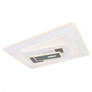 Smart Home eckige LED Deckenleuchte mit CCT-Lichtfarbsteuerung & Fernbedienung & Memory Funktion aus Acryl rechteckig kompatibel mit Google-Home und Alexa Timer Deckenlampe weiß