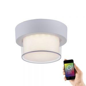 Smart Home LED Außenwandleuchte Q®-Erik weiß rund weiß