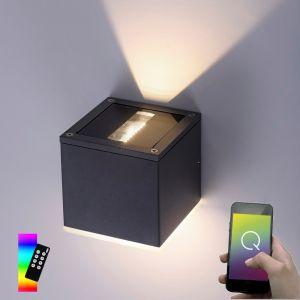Smart Home LED Außenwandleuchte Q®-Amin anthrazit