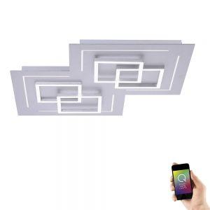 2 x dimmbare Designer LED Bilderleuchten mit Flexarm in Nickel matt Wandleuchte