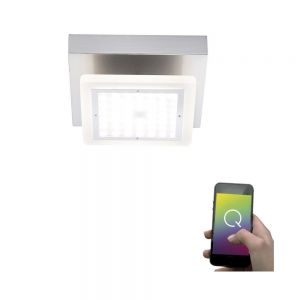 Smart Home LED-Deckenleuchten Q®-Vidal, 21 x 21 cm 1x 9,6 Watt, II, 13,00 cm, 21,00 cm, 21,00 cm