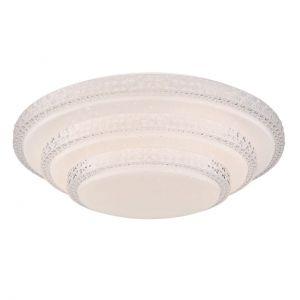 Smart Home runde LED Deckenleuchte mit CCT-Lichtfarbsteuerung & Fernbedienung aus Acryl APP Sternenhimmel Decor kompatibel mit Google-Home und Alexa Deckenlampe weiß ø 495 cm
