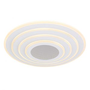Smart Home runde LED Deckenleuchte mit mit CCT-Lichtfarbsteuerung & Fernbedienung & Memory Funktion aus Acryl kompatibel mit Google-Home und Alexa Deckenlampe weiß ø 50 cm
