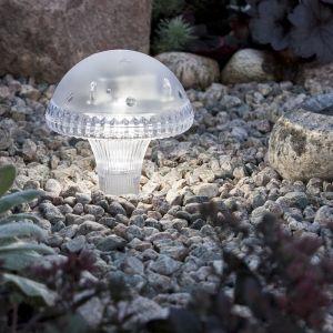 Solar LED-Dekoleuchte -Pilz - Kunststoff - Weiß