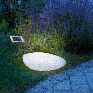 Solar LED-Leuchtstein, Lichtfarbe weiß oder nächtlich wechselnd