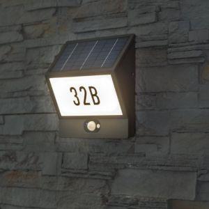 Solar-Sensor - Hausnummernleuchte Andrea