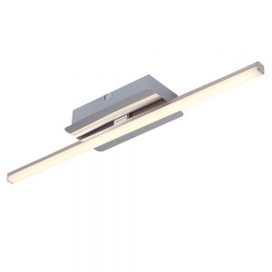 Stahlfarbene LED Deckenleuchte 5W
