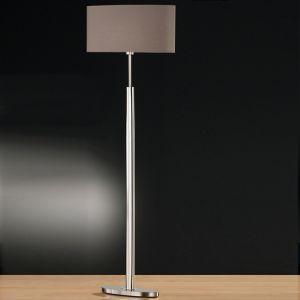 Standleuchte, 157cm hoch, Stoffschirm, oval, Weiß o. Cappuccino