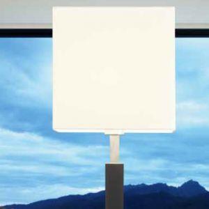 Stehleuchte Cube mit Stoffschirm in Weiß