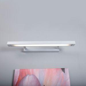 Stilvolle Bilder- oder Spiegelleuchte aus Metall in grau - inklusive Leuchtmittel