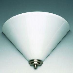 Stilvolle Wandleuchte in nickel-matt - Opalglas weiß 20x20cm 20,00 cm, 20,00 cm