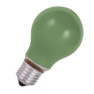 Stoßfestes Leuchtmittel  40 W  E27 Classic A  in Grün grün