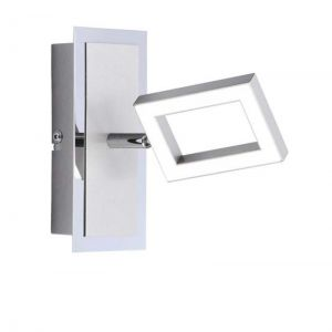 Strom sparende LED-Wandleuchte aus Stahl, inklusive