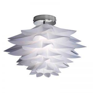 Stylische Deckenleuchte im Blüten-Design mit weißen Kunststoffblättern - Ø 50 cm