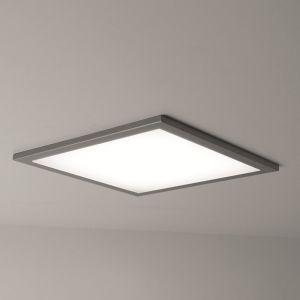 Superflache quadratische Einbau-LED-Leuchte - 13W - Gehäuse weiß - Diffusor Mikroprismen - Maße 22,5 x 22,5cm - IP20 - Neutralweiß 4250K 1x 13 Watt, klar/weiß