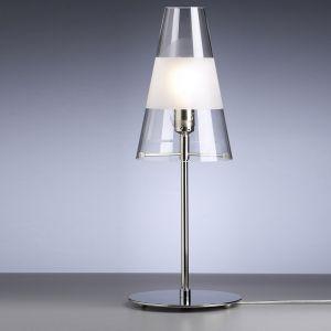 Tecnolumen, Design-Tischlampe TLWS, Klarglas mit mattem Ring