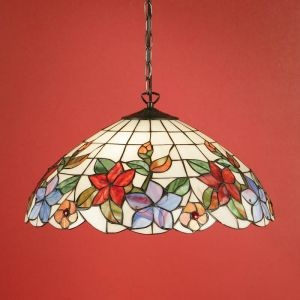 Tiffany Pendelleuchte Country Border - Large 3x 60 Watt, 159,00 cm, 52,00 cm