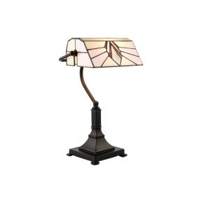 Tiffany Tischleuchte Astoria Bankers Lamp