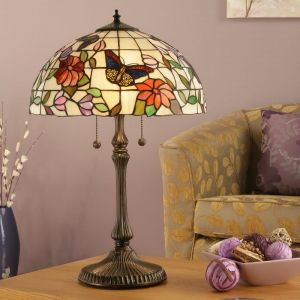 Tiffany Tischleuchte Butterfly - Large