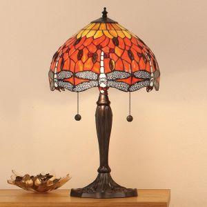 Tiffany Tischleuchte Flame Dragonfly - 2 Größen