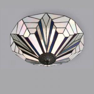 Tiffany-Deckenleuchte - Metall in Schwarz
