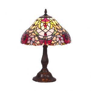 Tiffany-Tischleuchte aus dekorativer Leuchtenfamilie, Höhe 44cm