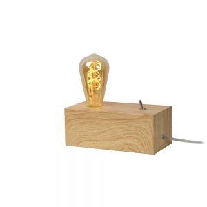Tischleuchte Edison von Lucide aus hellem Holz