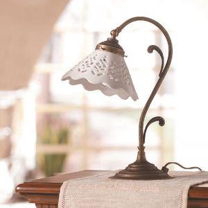 LHG Tischleuchte im Landhausstil - Keramik