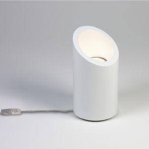 Tischleuchte Marasino, Gips, Höhe 20 cm, LED geeignet, modern, weiß