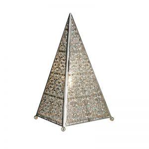 Tischleuchte Maroccan Fretwork - dreieckige Form