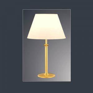 Tischleuchte in Messing mit cremefarbenen Chintz-Schirm, 57 cm 1x 57 Watt, 57,00 cm, 35,00 cm