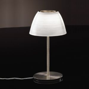 Tischleuchte mit Glas in Weiß