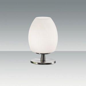 Tischleuchte mit Glasschirm in weiß weiß