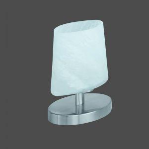 Tischleuchte mit Touchdimmer in Nickel matt