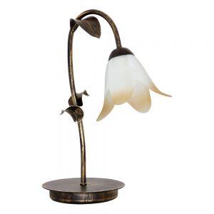 Tischleuchte Palm mit Blütenkelchglas
