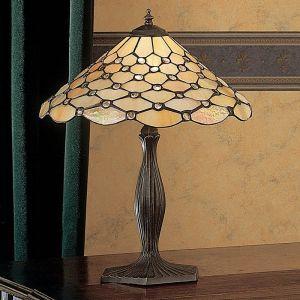 Tischleuchte Pearl im Tiffany Stil