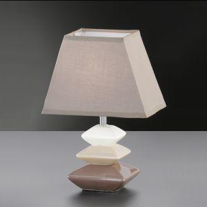 Tischleuchte, 28cm hoch, Keramik, Stein-Optik, eckig, zwei Farben