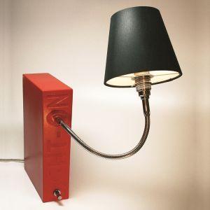 Top Light Buchstütze Light On Rot, Kopf Silk, Flexarm 30cm