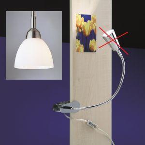 Top Light Federklemmleuchte Flexlight Spring, Kopf Iglo 40cm Nickel matt Nickel-matt, 40,00 cm