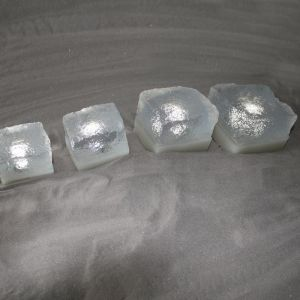 Top Light Pflasterstein Light Stone Cristal 7x9x7cm, LED Weiß 0,3W 1x 0,3 Watt, weiß