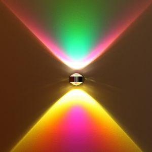 LED Wandleuchte bunt