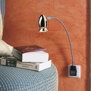 Top Light Steckerleuchte Pluglight Flex Apollo, Chrom, Stecker schwarz