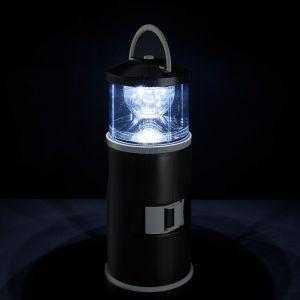 Tragbare LED Campingleuchte aus Edelstahl mit 15-teiliger Werkzeugbox Batteriebetrieben 3W