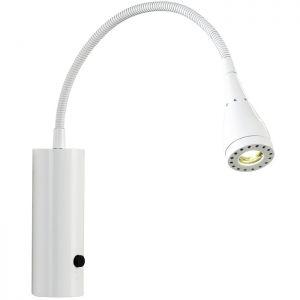 Trendige LED-Wandleuchte mit Flexarm in weiß, 3W LED weiß