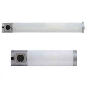 Unterbauleuchte mit Steckdose und Schalter, zwei Größen