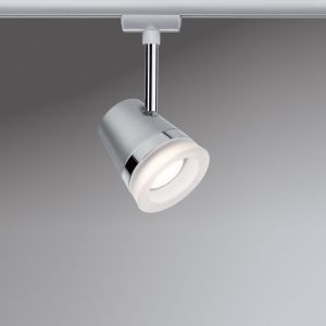 U-Rail LED-Strahler in Chrom-matt - rund 6,5W, 2700K