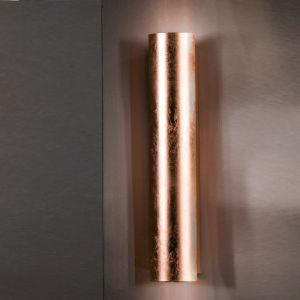 verkupferte Wandleuchte schlagmetallveredelt in 75-, 37-, 25- oder 18cm Höhe