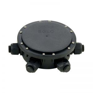 Verteilerbox 5-fach aus Kunststoff in Schwarz - IP 68 5-fach Verteiler, 4,80 cm, 14,00 cm