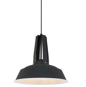 Vintage-Style Pendelleuchte aus Stahl Ø 34cm Farbe schwarz schwarz