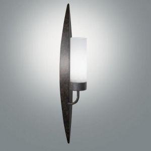 Wandlampe in Fackeloptik in Rost, 50 cm 50,00 cm, 7,50 cm